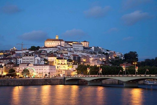 Rio Mondego & Ponte de Santa Clara, Coimbra, Beira Litoral, Portugal : Stock Photo