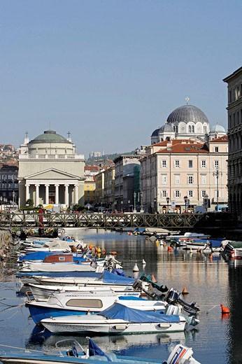 Trieste,Grand Canal,Church of Sant´Antonio Nuovo,Serb-Orthodox Church of St Spyridon,Friuli-Venezia Giulia,Italy : Stock Photo