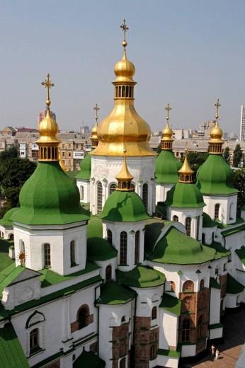 St Sophia Monastery,St Sophia Cathedral,Kiev,Ukraine : Stock Photo