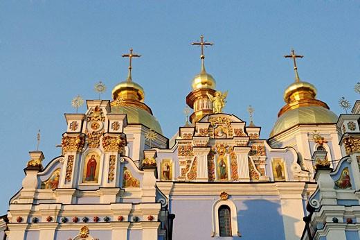 Stock Photo: 1566-479328 St Michael of the Golden Cupolas monastery,Kiev,Ukraine