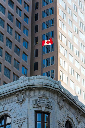 Old and modern building, Calgary, Alberta, Canada : Stock Photo