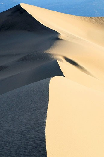 Stock Photo: 1566-481514 Dunes in the Death Valley. Death Valley N.P., California, USA.