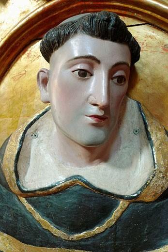 Dominic monk. Convento de Churubusco hoy Museo de las Intervenciones. Ciudad de Mexico : Stock Photo