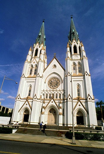 Savannah Georgia Cathedral St John the Baptist : Stock Photo