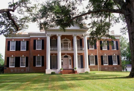 Natchez Trace Mississippi Auburn House Antebellum Home : Stock Photo