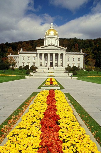 Montpelier Vermont State Capitol Building : Stock Photo