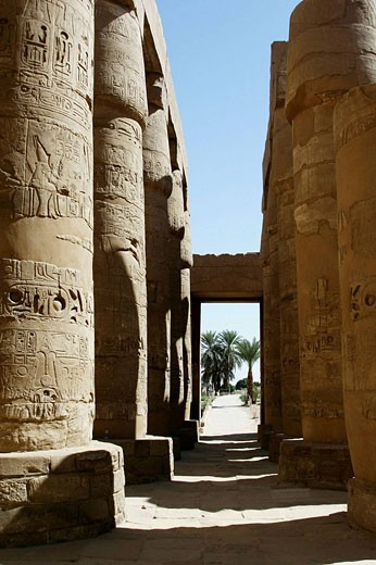 Karnak temple, Luxor city, Egypt  : Stock Photo