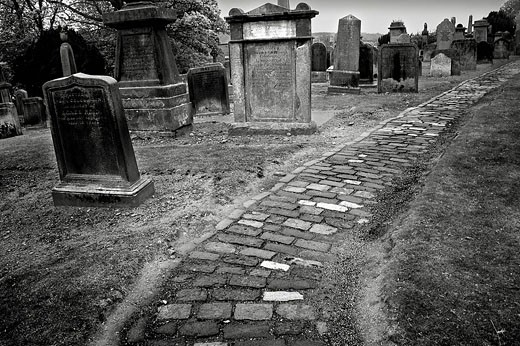 Cemetery Cathedral Lilinthgow, Scotland, Great Britain : Stock Photo