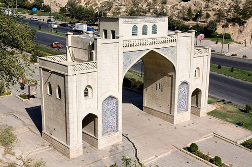 Iran, Shiraz, Koran Gate : Stock Photo