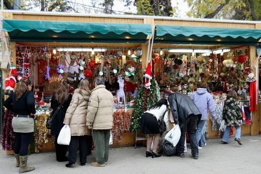 Stock Photo: 1566-488195 Sagrada Familia Christmas fair, Barcelona. Catalonia, Spain