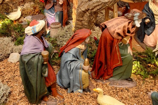 The Three Wise Men, Nativity scene : Stock Photo