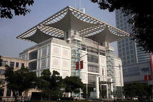 Stock Photo: 1566-488292 China, Shanghai, Renmin Square, Urban Planning Centre