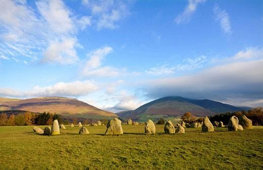 Stock Photo: 1566-489159 Castlerigg stone Circle, Lake District, Cumbria, England