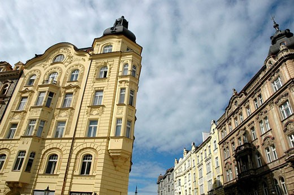 Stock Photo: 1566-489576 Prague Czech Republic, buildings along Vezenska street