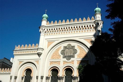Prague Czech Republic, the Spanelska synagoga in Josefov : Stock Photo