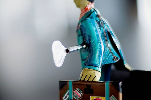 Stock Photo: 1566-490038 ´El Estudiante´ (the student), limited edition of PAYÁ old tin toy