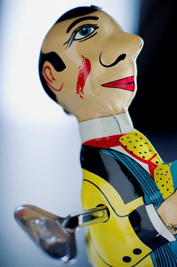 ´El Estudiante´ (the student), limited edition of PAYÁ old tin toy : Stock Photo