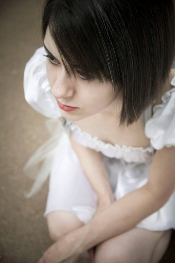 Close_up of a young woman. : Stock Photo