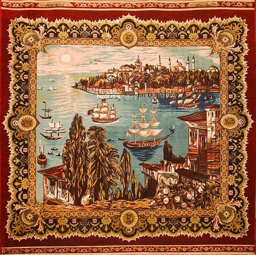 Silk Carpet motives, Antalya, Turkey : Stock Photo