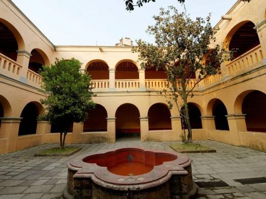 Convento de San Agustín. Tlalpan. Ciudad de México. : Stock Photo