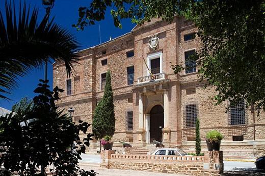 Palacio del Marqés de Santa Cruz Archivo General de la Armada El Viso del Marqués, provincia de Ciudad Real, Castilla la Mancha, Spain : Stock Photo
