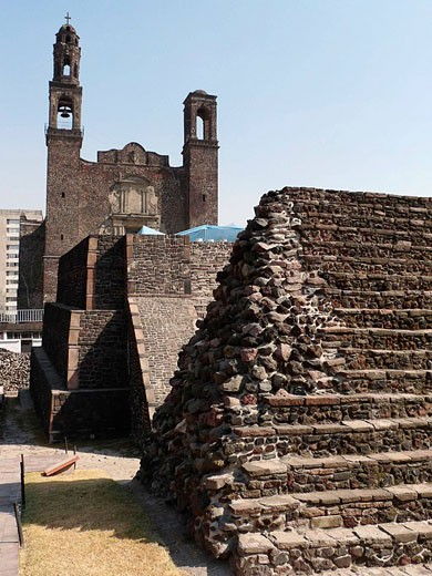 Tlatelolco Archaeological site. Ciudad de México. : Stock Photo