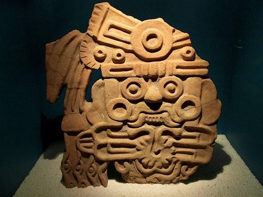 Stock Photo: 1566-494838 Tlaloc. Museo de Teotihuacan. México.