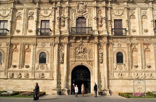 Stock Photo: 1566-495537 Monastery of San Marcos (currently a ´parador nacional´ state-run hotel), Leon. Castilla-Leon, Spain