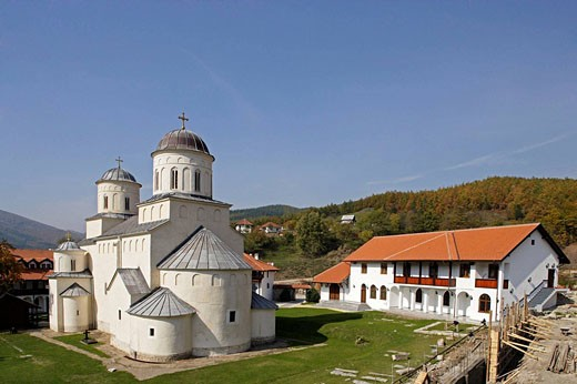 Stock Photo: 1566-495787 Milesheva Monastery of Ascension of the Lord , 1234-1235,from south-east,Serbia