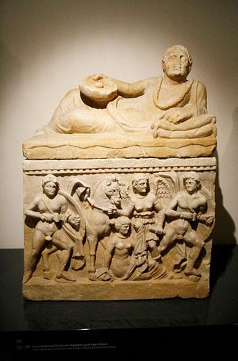 Stock Photo: 1566-496371 Etruscan sarcophagus in the Ny Carlsberg Glyptotek, Copenhagen, Denmark