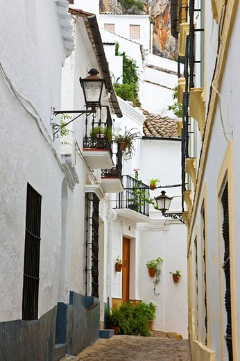 Ubrique at the foot of Sierra de Cadiz. ´White towns´, Cadiz province, Andalucia, Spain : Stock Photo