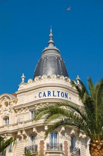 Stock Photo: 1566-496653 France Provence-Alpes-Côte d´Azur Cannes Boulevard de la Croisette Carlton Hotel