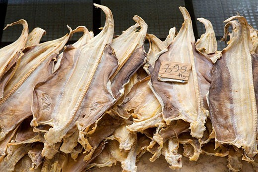 Portugal, Madeira Island, Funchal Farmers Market Typical dry fish : Stock Photo