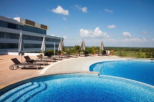 Mexico Tabasco Villahermosa Swiming Pool Hilton Hotel : Stock Photo