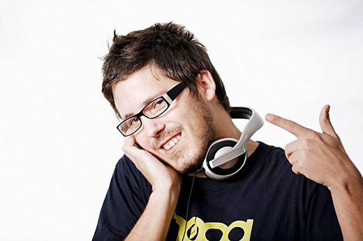Stock Photo: 1566-497369 Portrait of a DJ