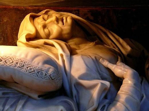 Saint sculpture at San Andrea Frate Church. Rome. Lazio, Italy : Stock Photo