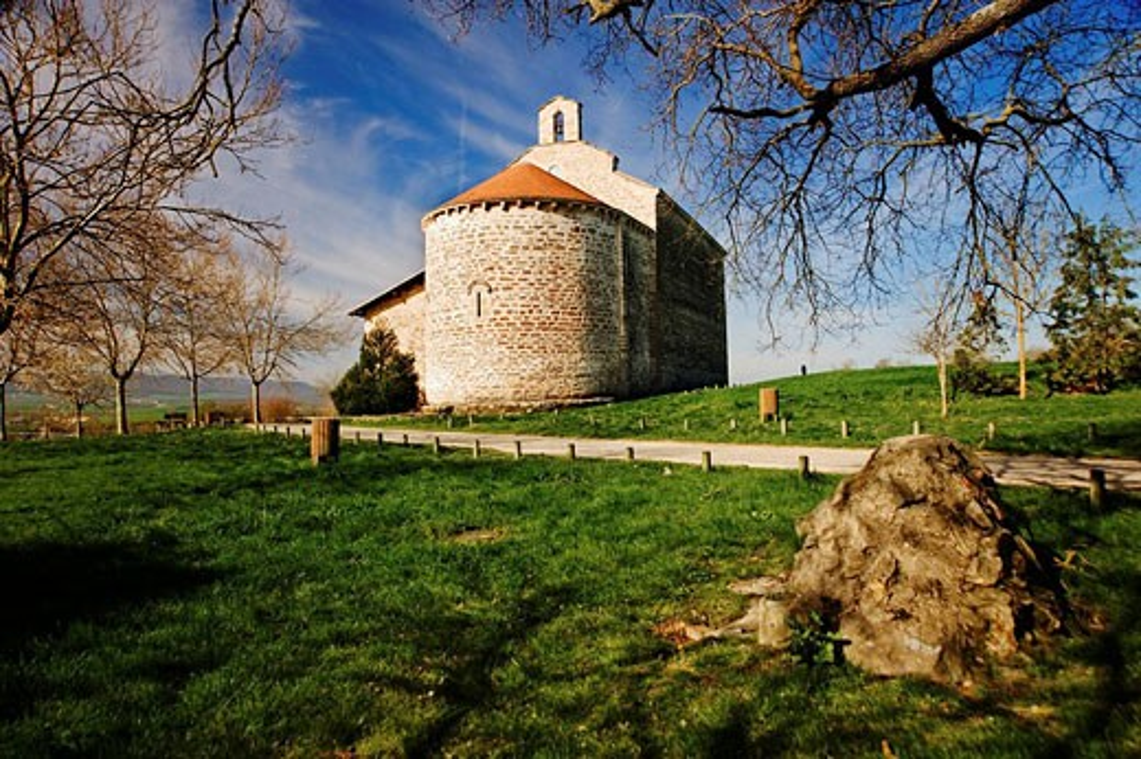 Chapel of Nuestra Señora de Ayala (13th century), Araba. La Llanada, Alava, Basque Country, Spain : Stock Photo