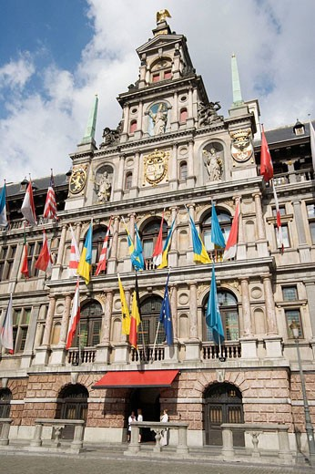 Stadhuis or City Hall in Grote Markt, Antwerp. Belgium : Stock Photo