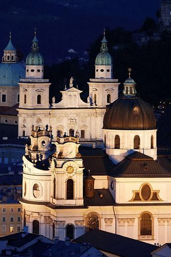 Stock Photo: 1566-498536 Kollegienkirche church and cathedral  in Salzburg, Austria