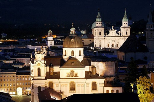 Kollegienkirche church and cathedral  in Salzburg, Austria : Stock Photo