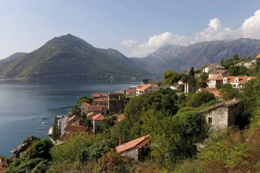 Perast,old town,Kotor Bay,Montenegro : Stock Photo