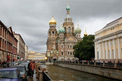 Stock Photo: 1566-501828 The Church on Spilled blood, St  Petersburg, Russia