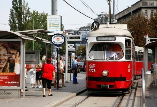 Trams, Vienna, Austria : Stock Photo