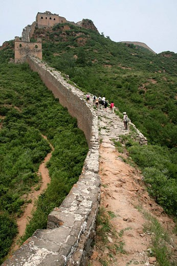 JinShanLing Great Wall, Hong Wu Reign of Ming Dynasty, LuanPing County, HeBei Province, China, Asia : Stock Photo