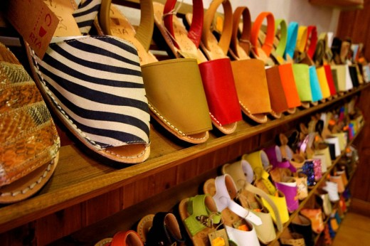 Stock Photo: 1566-502239 ´Avarques´, typical shoes. Ciutadella. Minorca. Balearic Islands. Spain