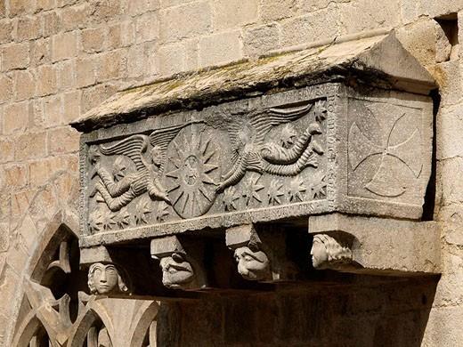 Stock Photo: 1566-502249 Sarcophagus, church of Sant Feliu, Girona. Catalonia, Spain