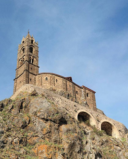 Stock Photo: 1566-502311 Church of St. Michel d´Aiguilhe, Le Puy-en-Velay, Auvergne, France