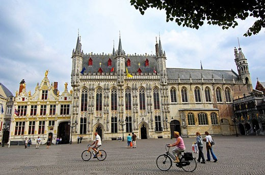 Stock Photo: 1566-502377 Town Hall in Burg square, Bruges. Western Flanders, Belgium