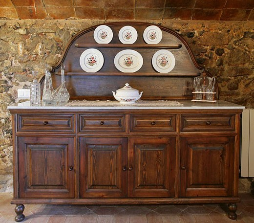 Stock Photo: 1566-503184 Elegant antique buffet in a country house