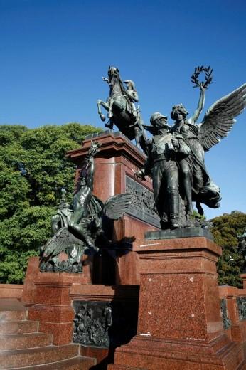 Monument to the Libertador General San Martín at Plaza San Martín  Buenos Aires, Argentina : Stock Photo